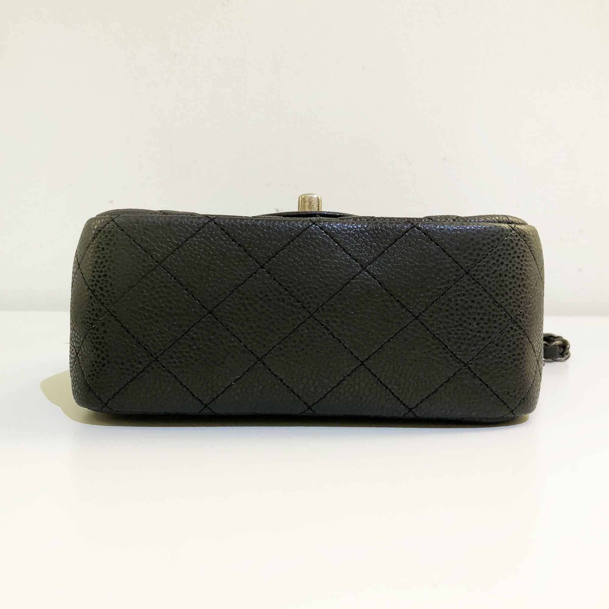 Chanel Caviar Black Flap Mini Square Bag