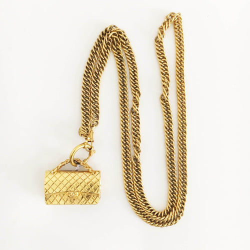 Chanel Mademoiselle Bag Pendant Necklace