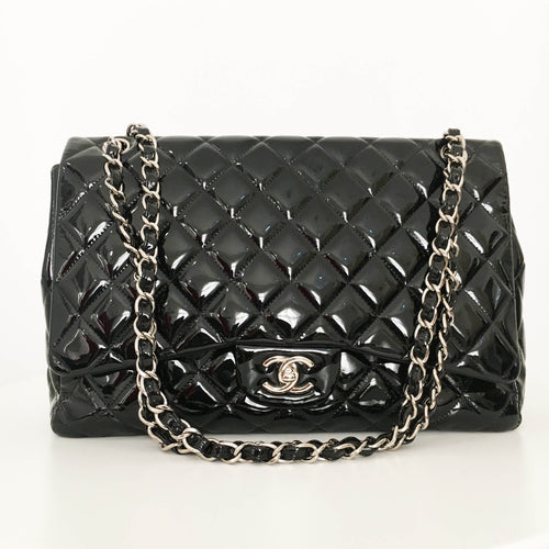 Chanel Patent Leather Maxi Flap Bag