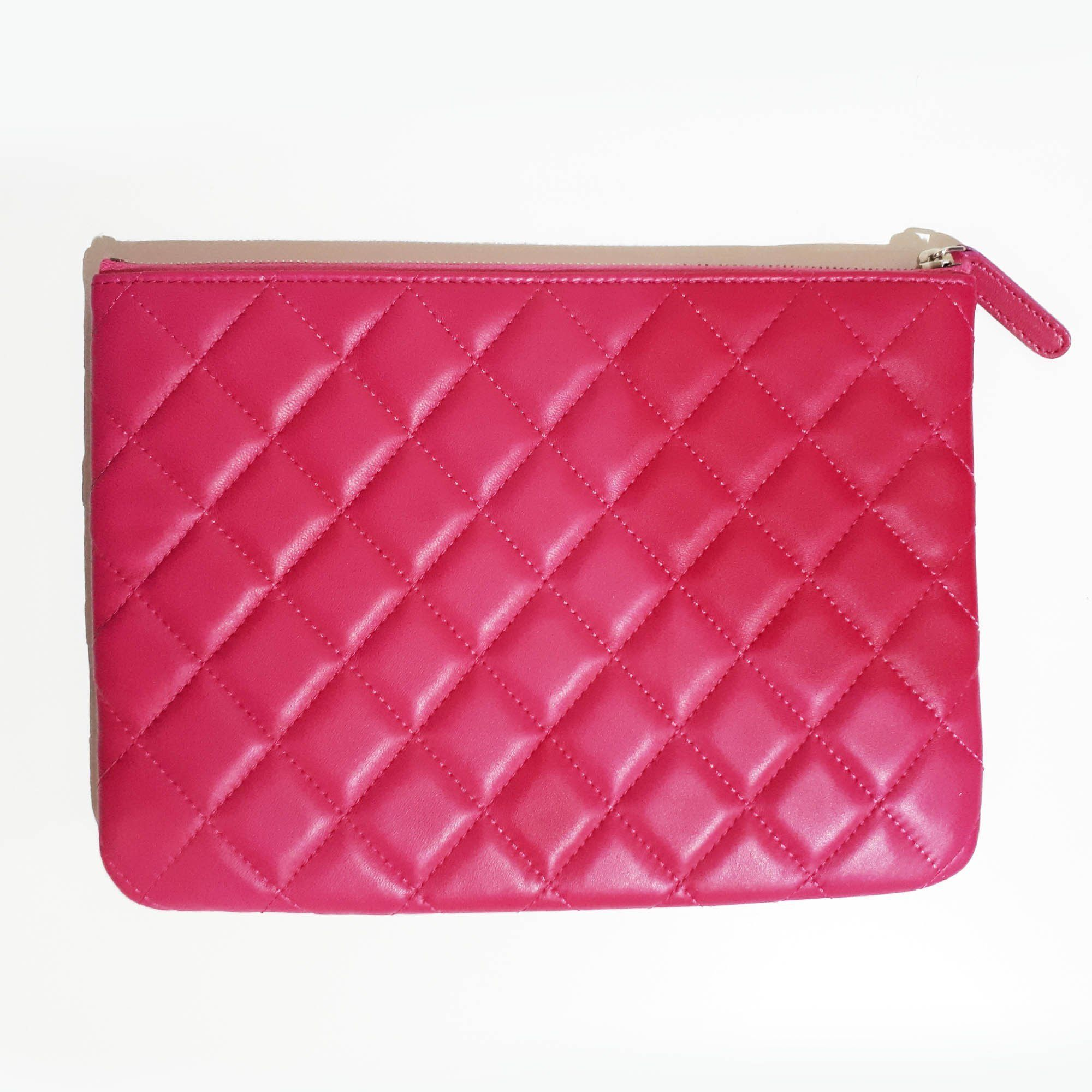 Chanel Pink Quilted Pouch