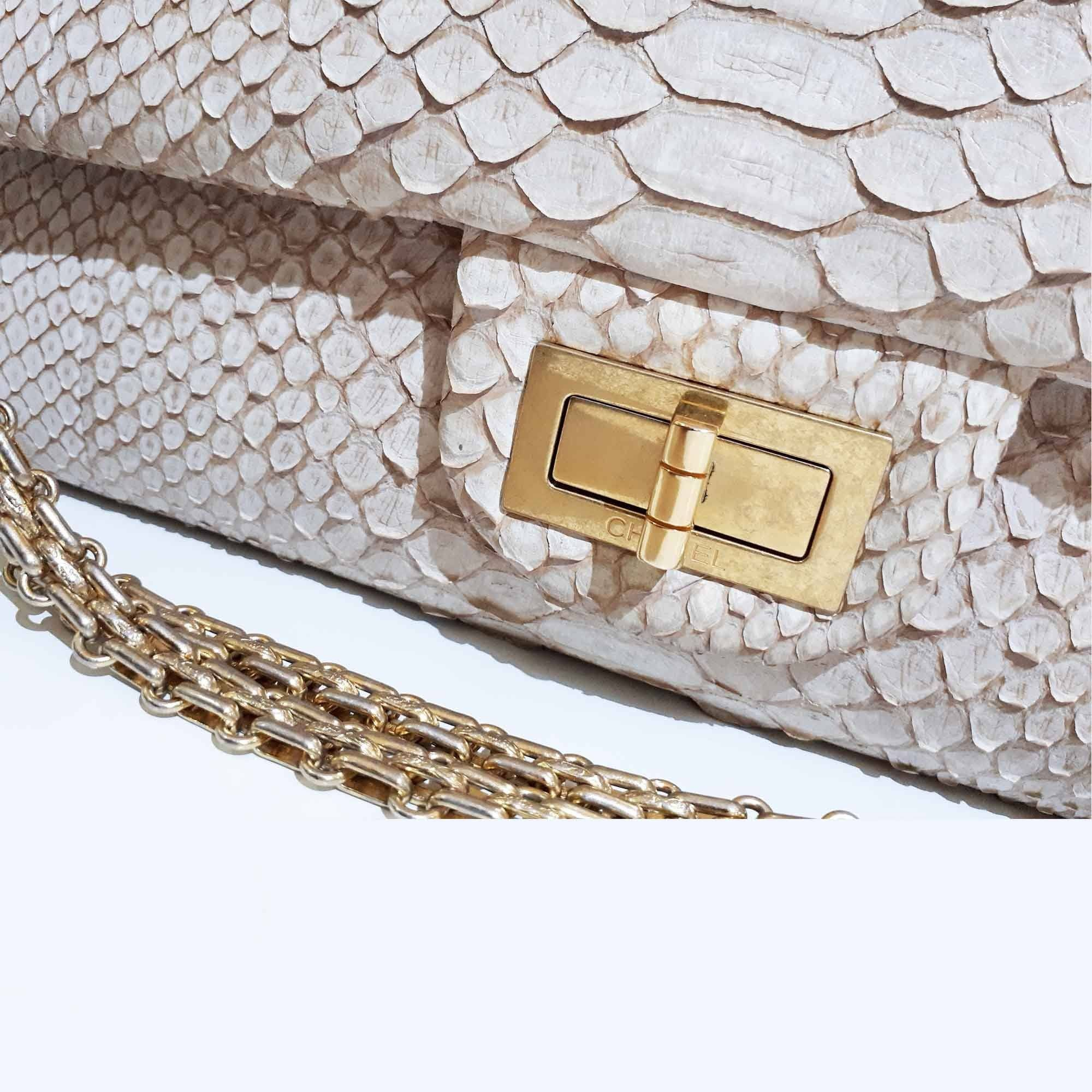 Chanel Python Reissue 2.55 Flap Bag