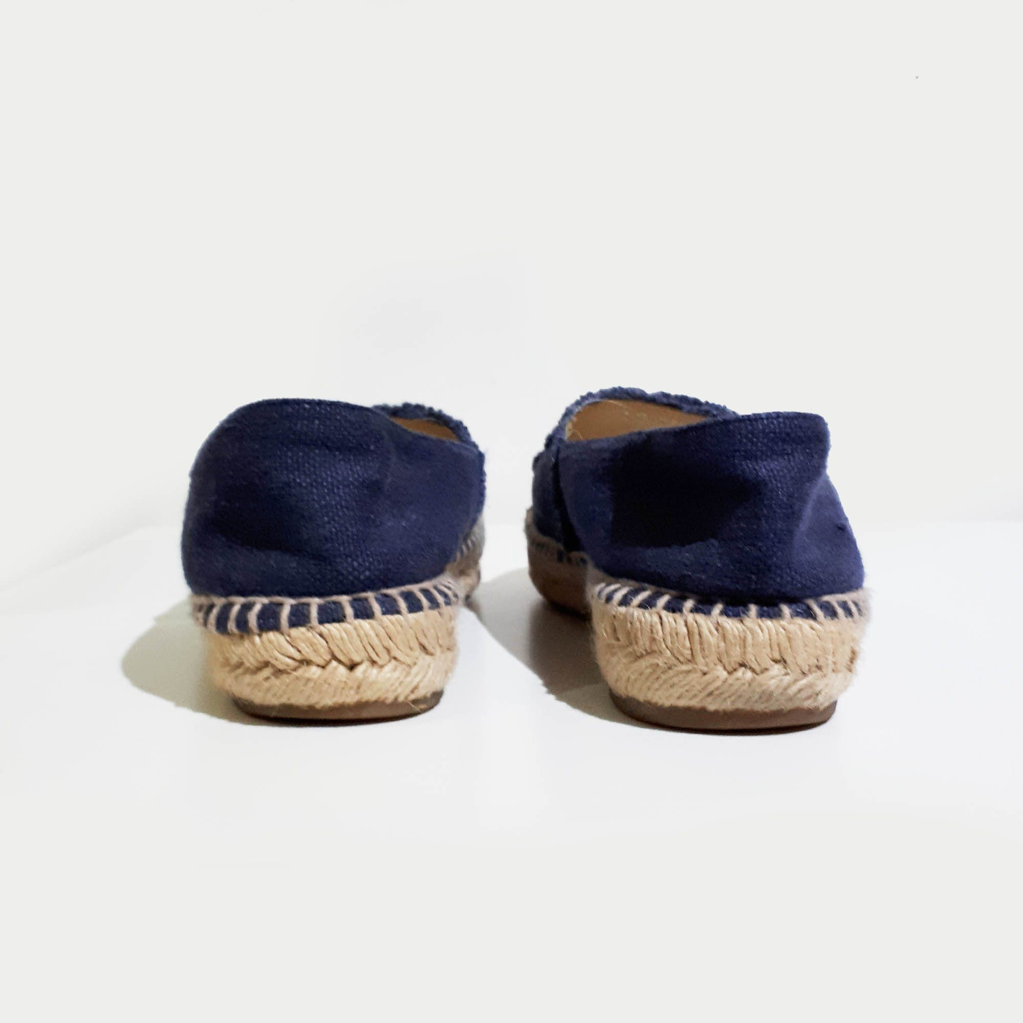 Chanel Blue Fabric CC Espadrille Flats