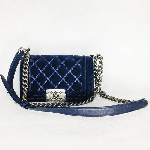 Chanel Le Boy Small Velvet Bag