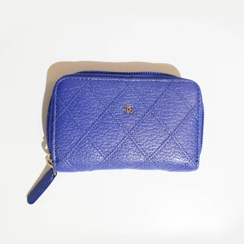 Chanel Purple Small Zip Around Pouch