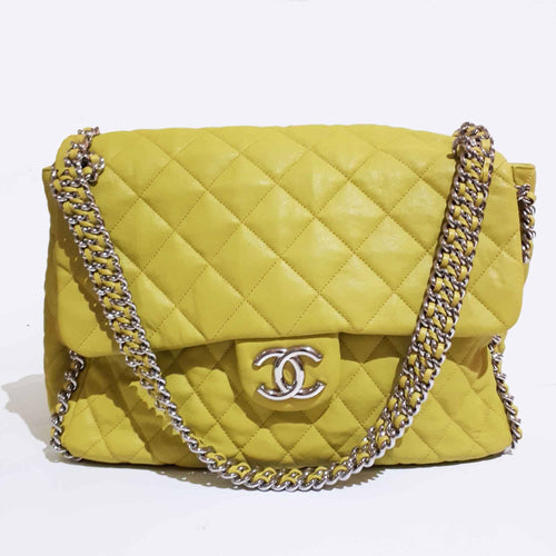 Chanel Maxi Yellow Chain Around Bag