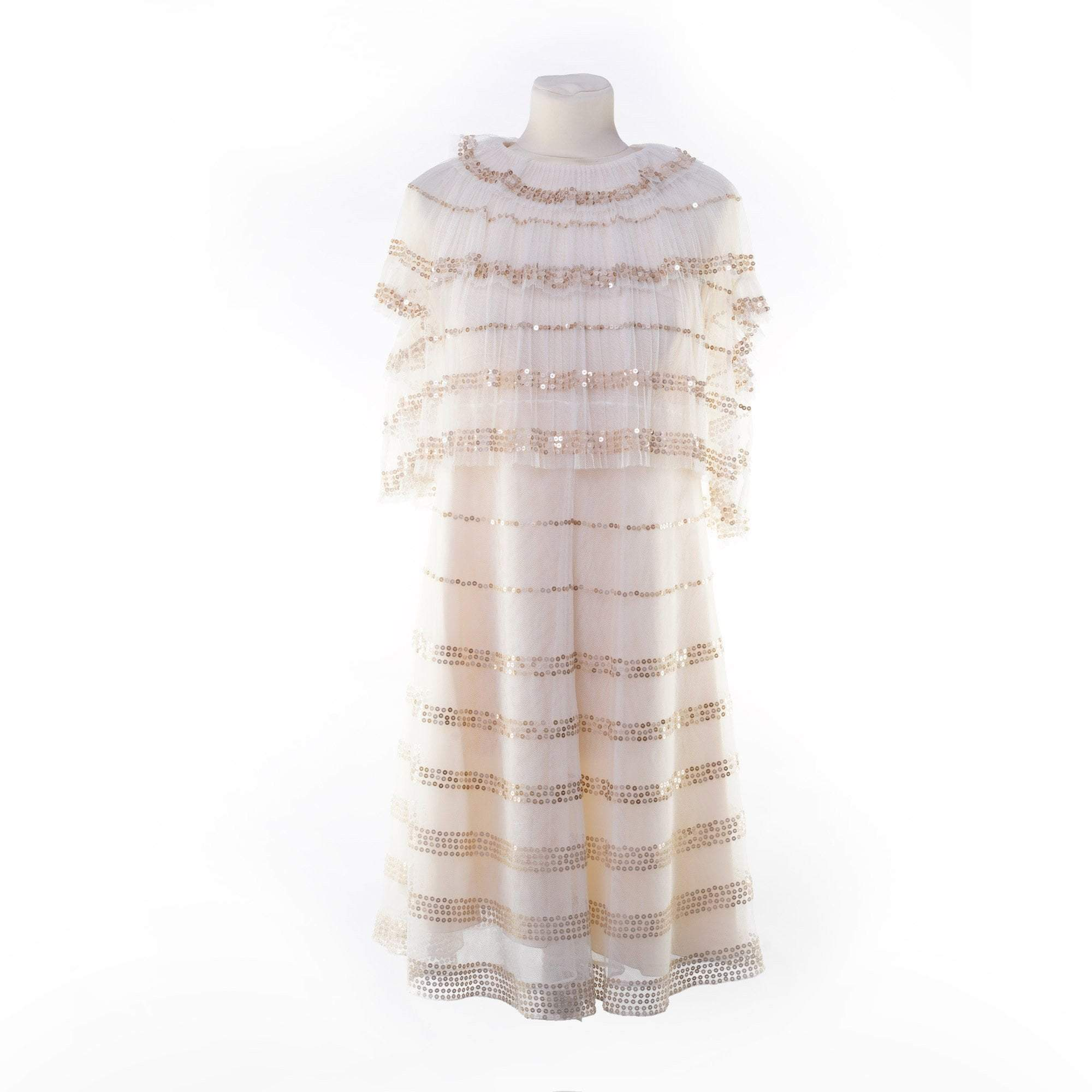 Chloé Tulle Layered Dress with Sequin