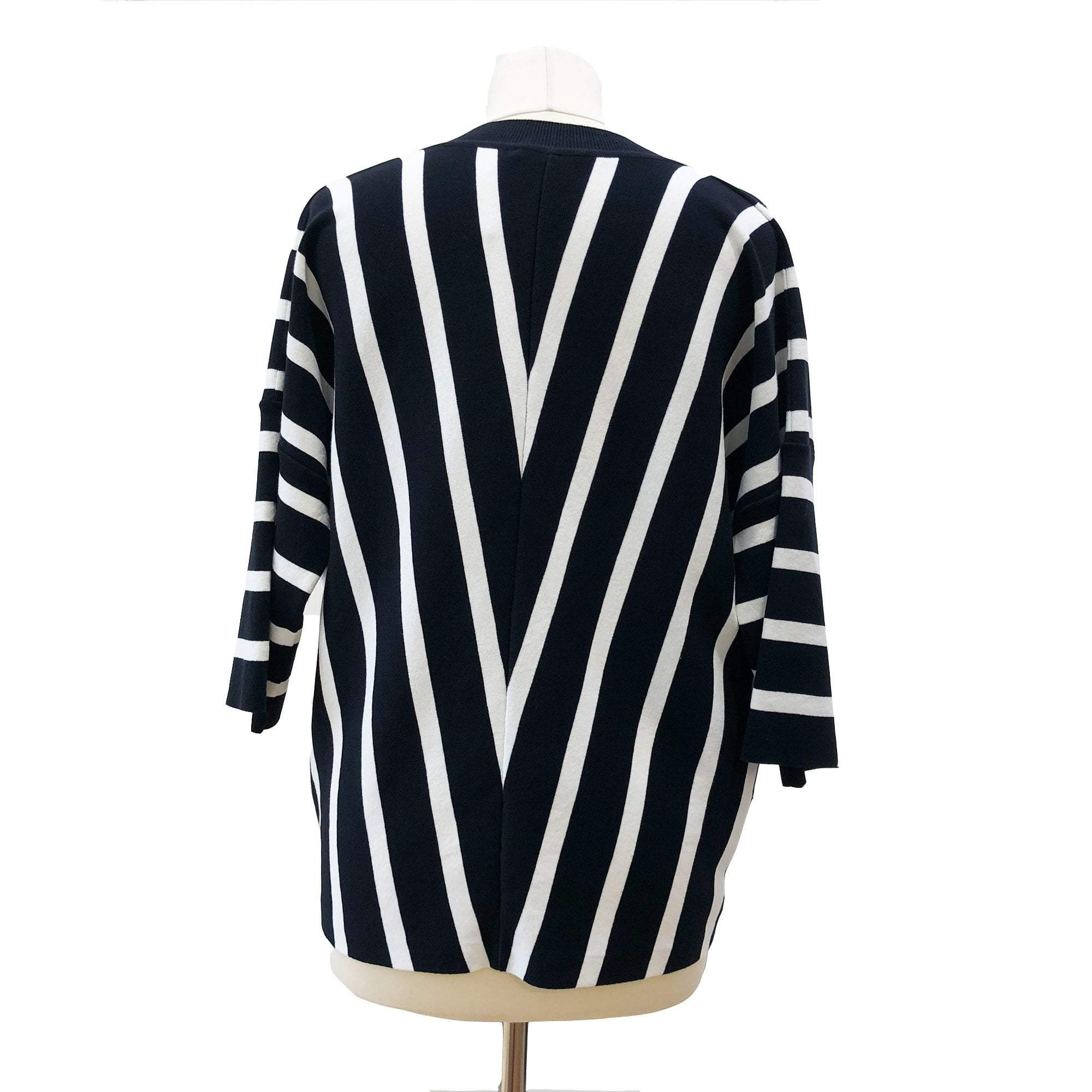 Chloe striped short-sleeve cardigan