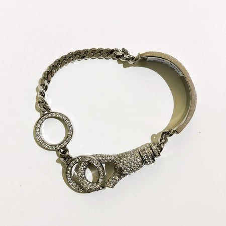Christian Dior Crystalized Silver Bracelet