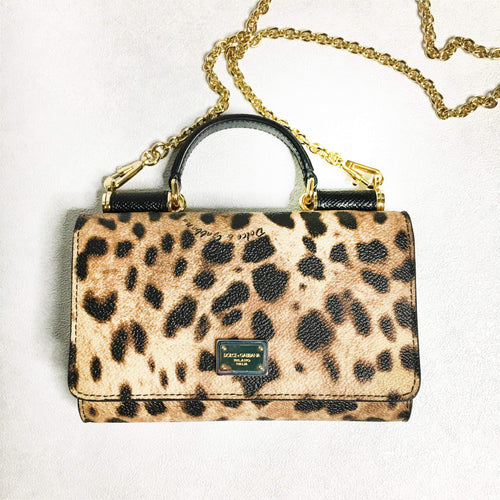 Mini Sicily Leopard Print Phone Bag