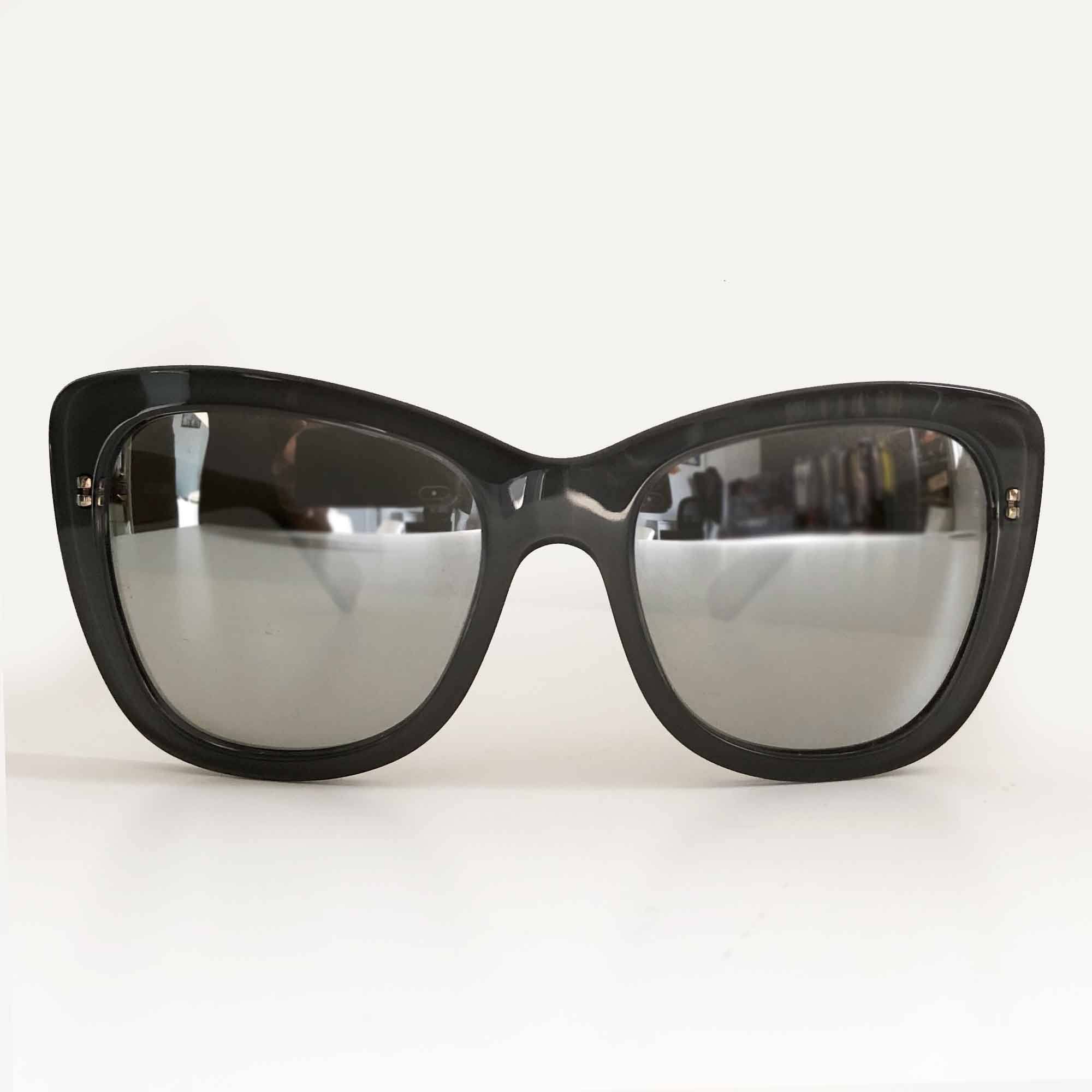 Dolce & Gabbana Grey Metallic Lens Sunglasses