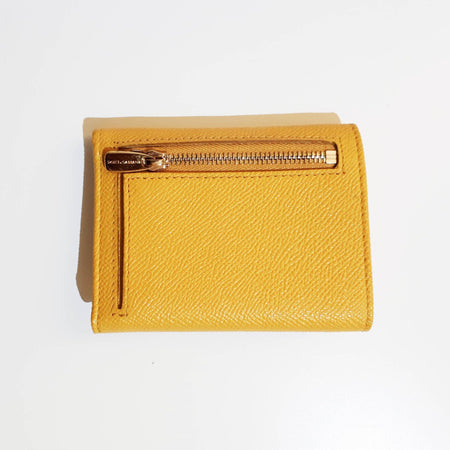 Dolce and Gabbana Mustard Yellow Wallet