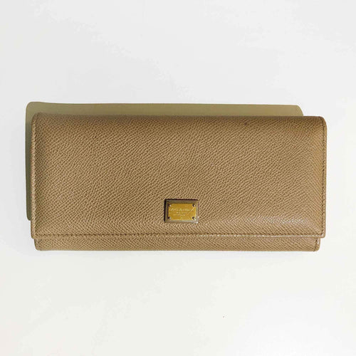 Dolce and Gabbana Beige Long Wallet