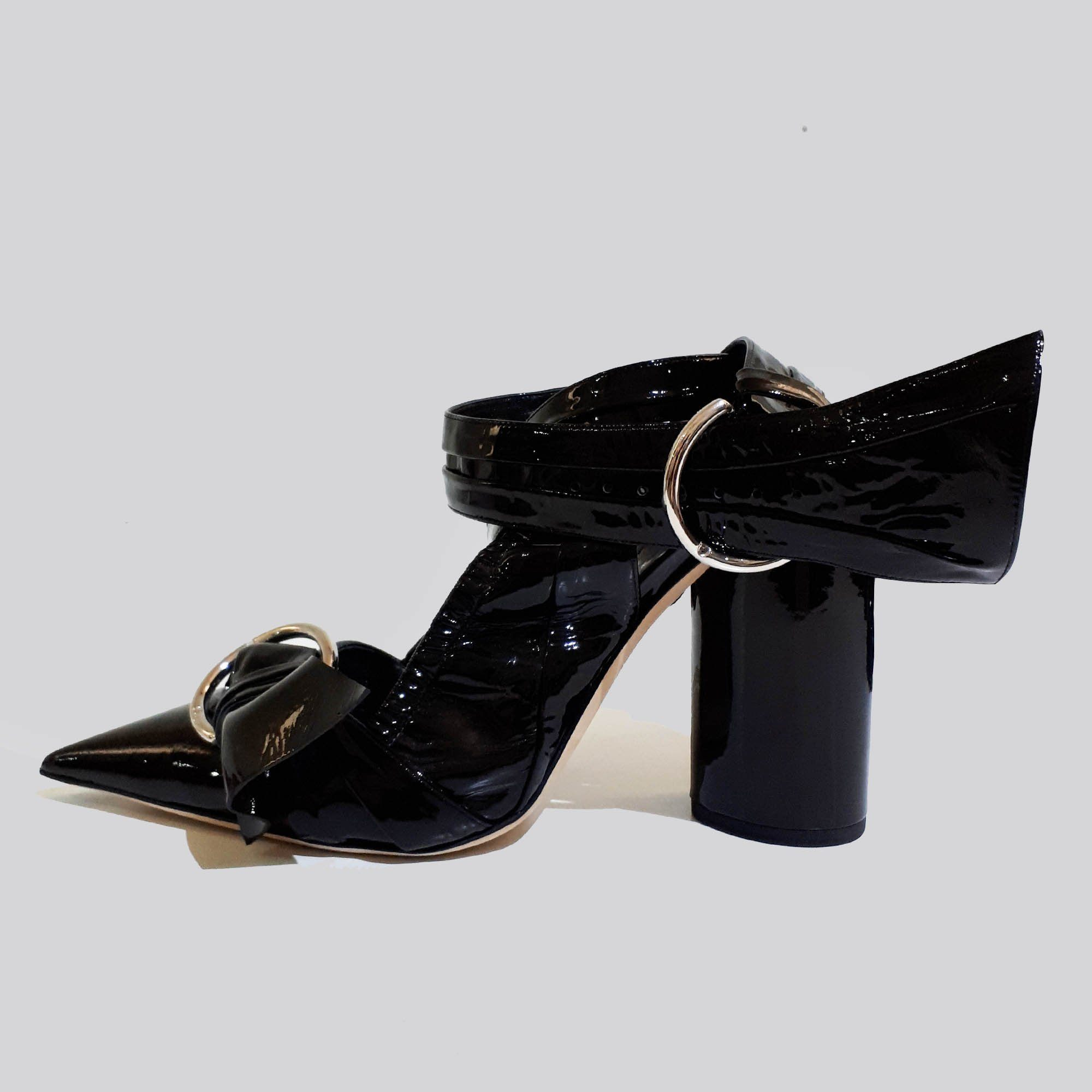 Christian Dior Black Conquest Buckle Pumps