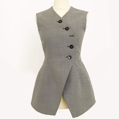 Christian Dior Houndstooth Double Breasted Vest