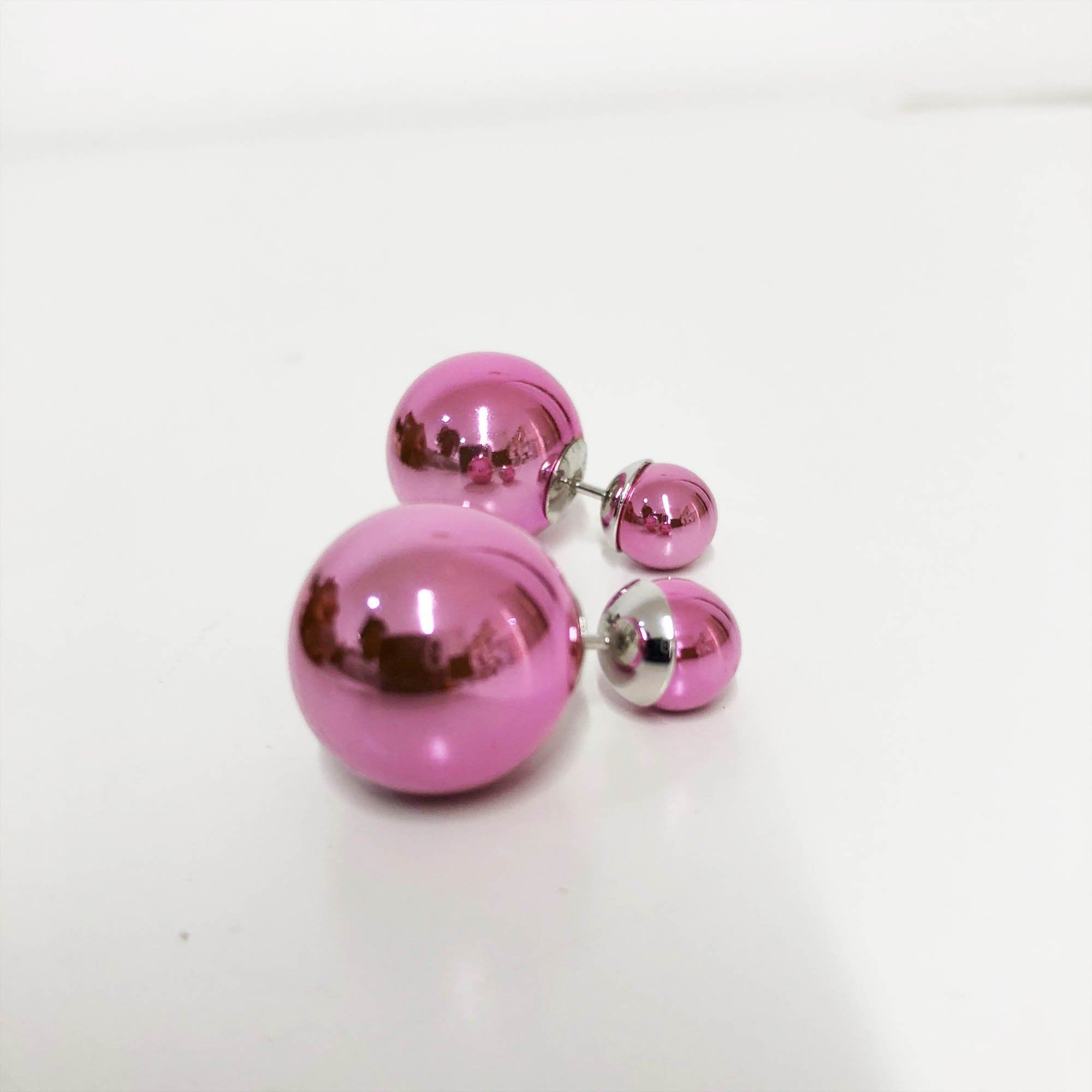 Christian Dior Pink Metallic Tribal Miss En Dior Earrings