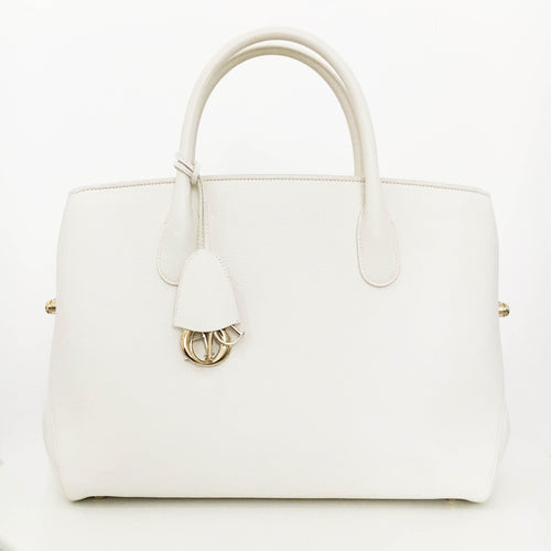Christian Dior Bar White Leather Bag