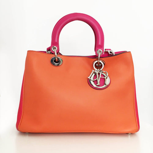 Christian Dior Tri-Colored Medium Diorissimo Bag