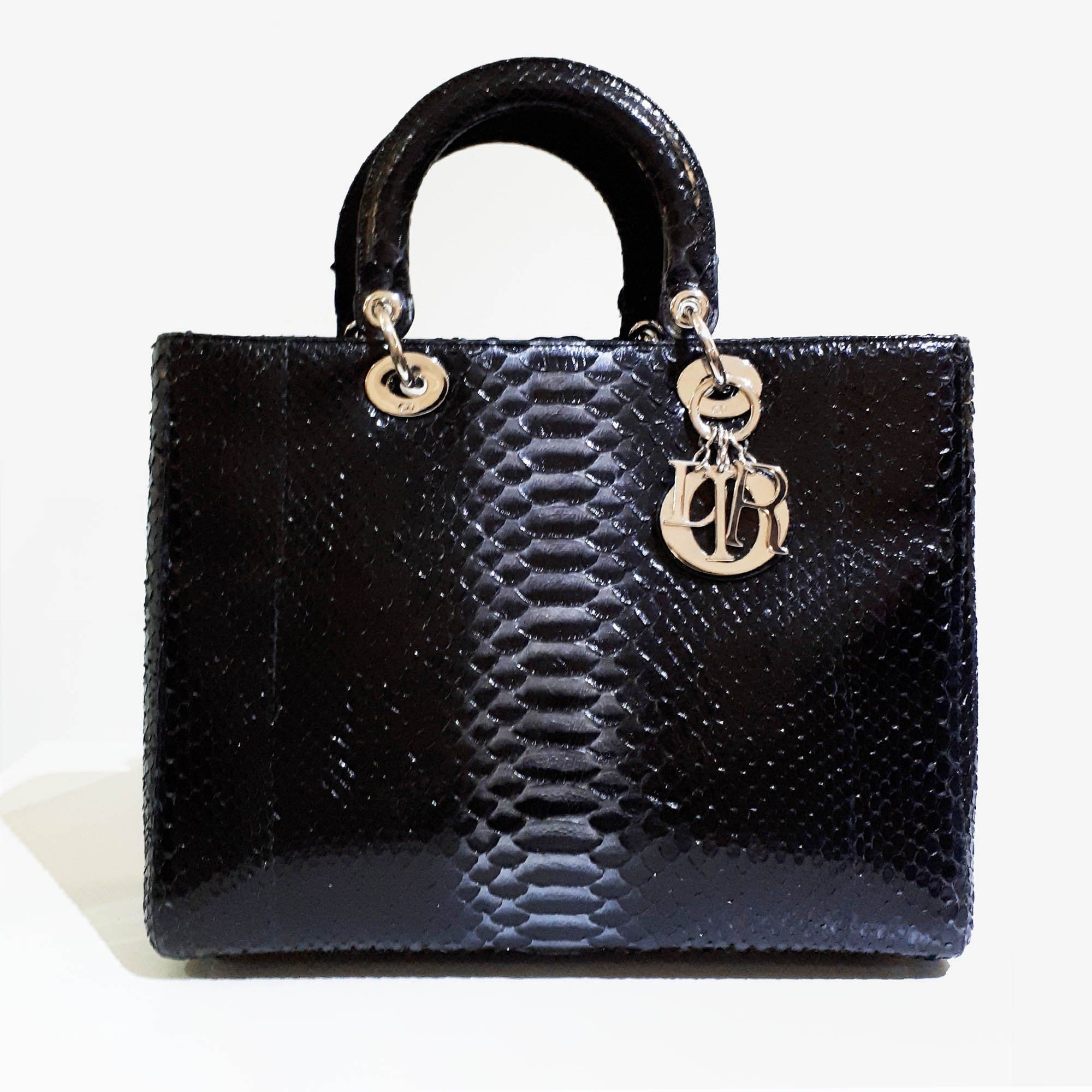 Dior Dior Python Leather Black Bag yCcDuLWiCg
