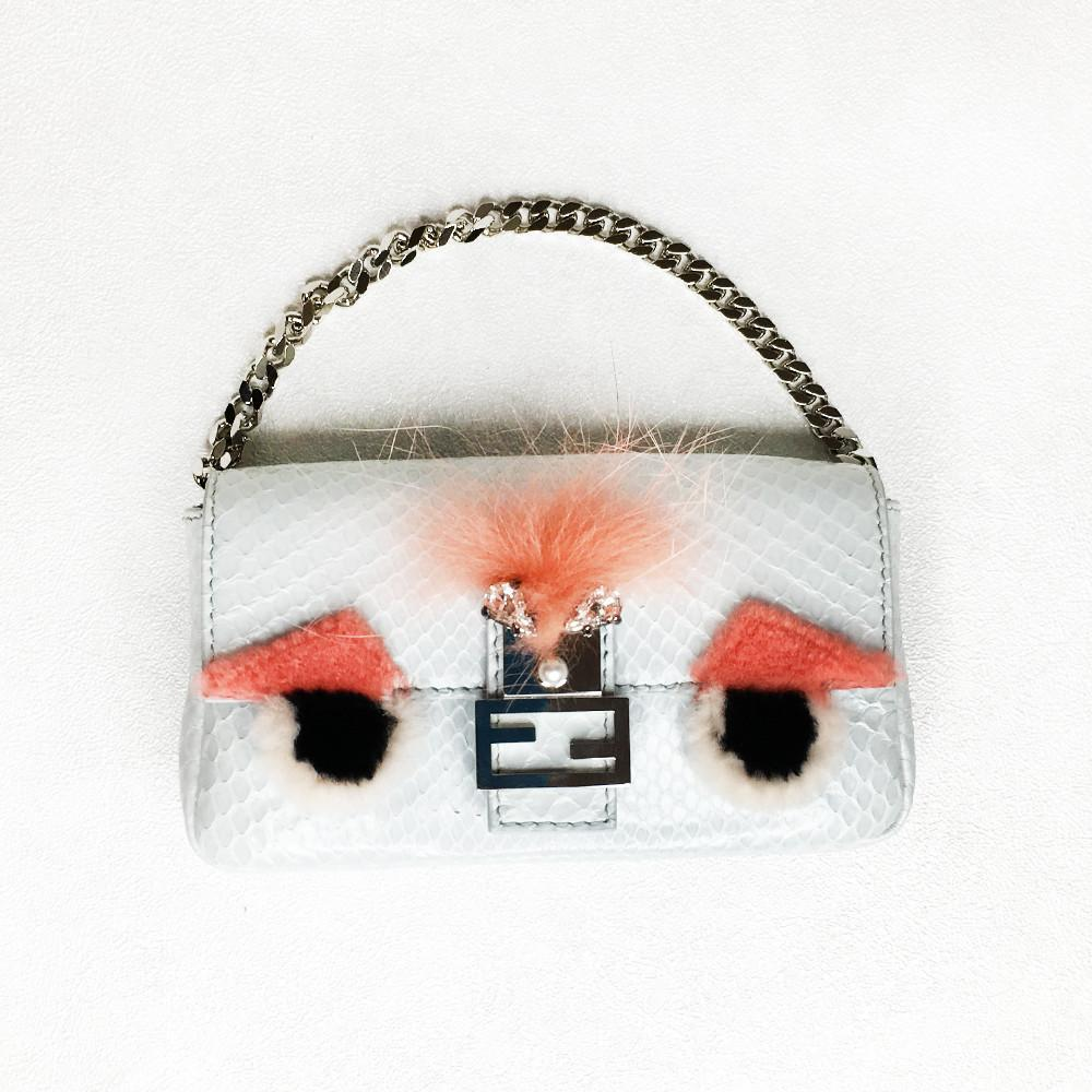 Fendi Python Monster Micro Baguette Bag