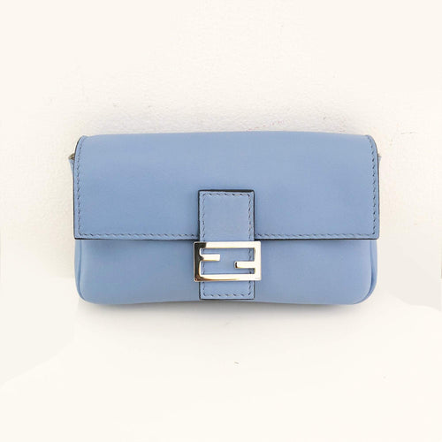 Fendi Micro Baguette Blue Bag