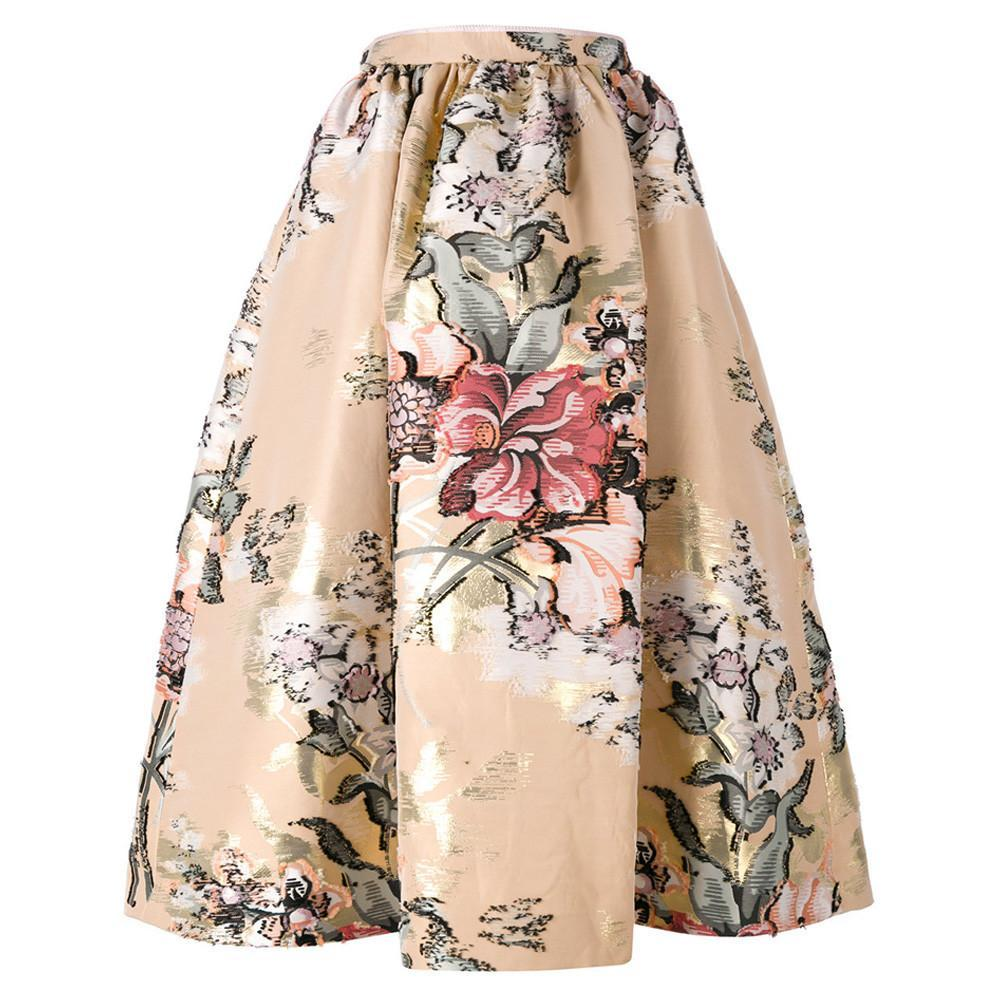 Fendi Baroque Flower Midi Skirt