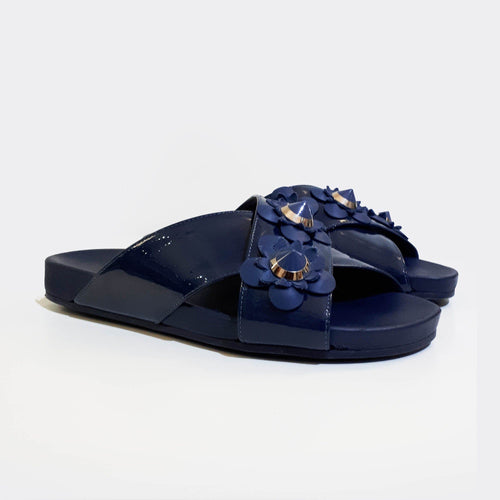 Fendi Patent Leather Criss-Cross Sandals