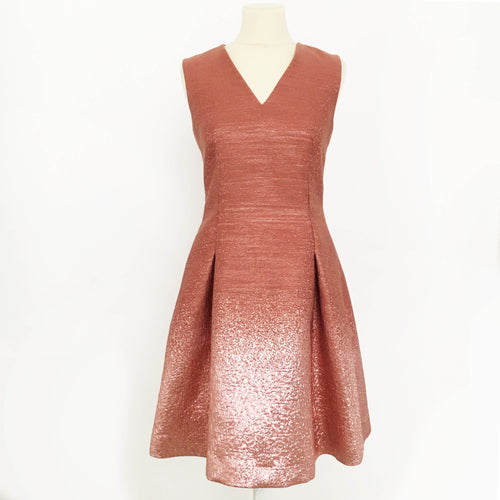Fendi Dusty Pink and Metallic Dress