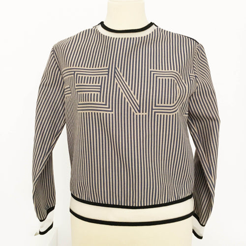 Fendi Striped Long Sleeve Jumper
