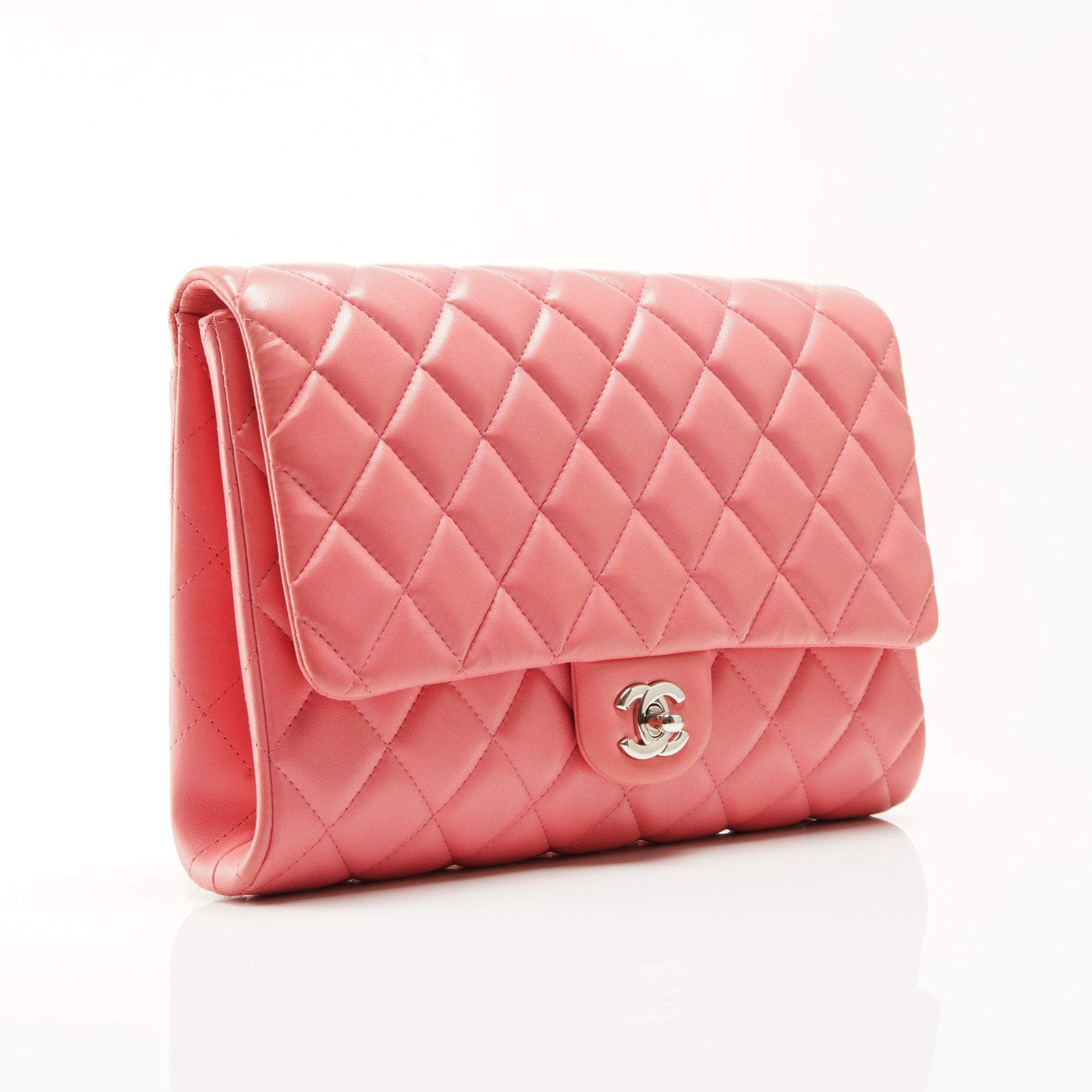 Chanel Light Pink Quilted Flap Bag