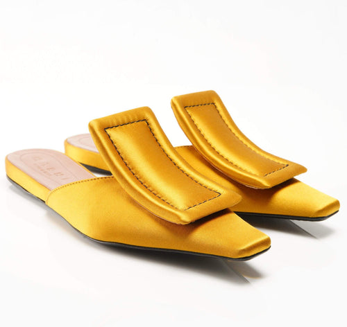 Marni Satin Mustard  Slippers