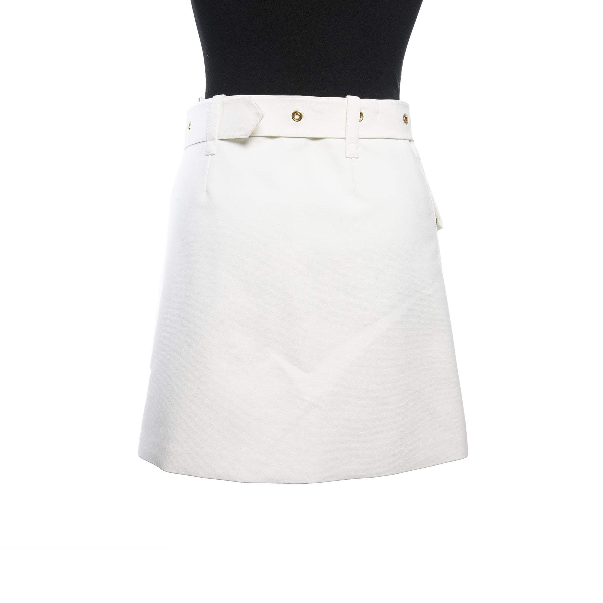 Louis Vuitton  White  Mini Skirt With Gold Buttons