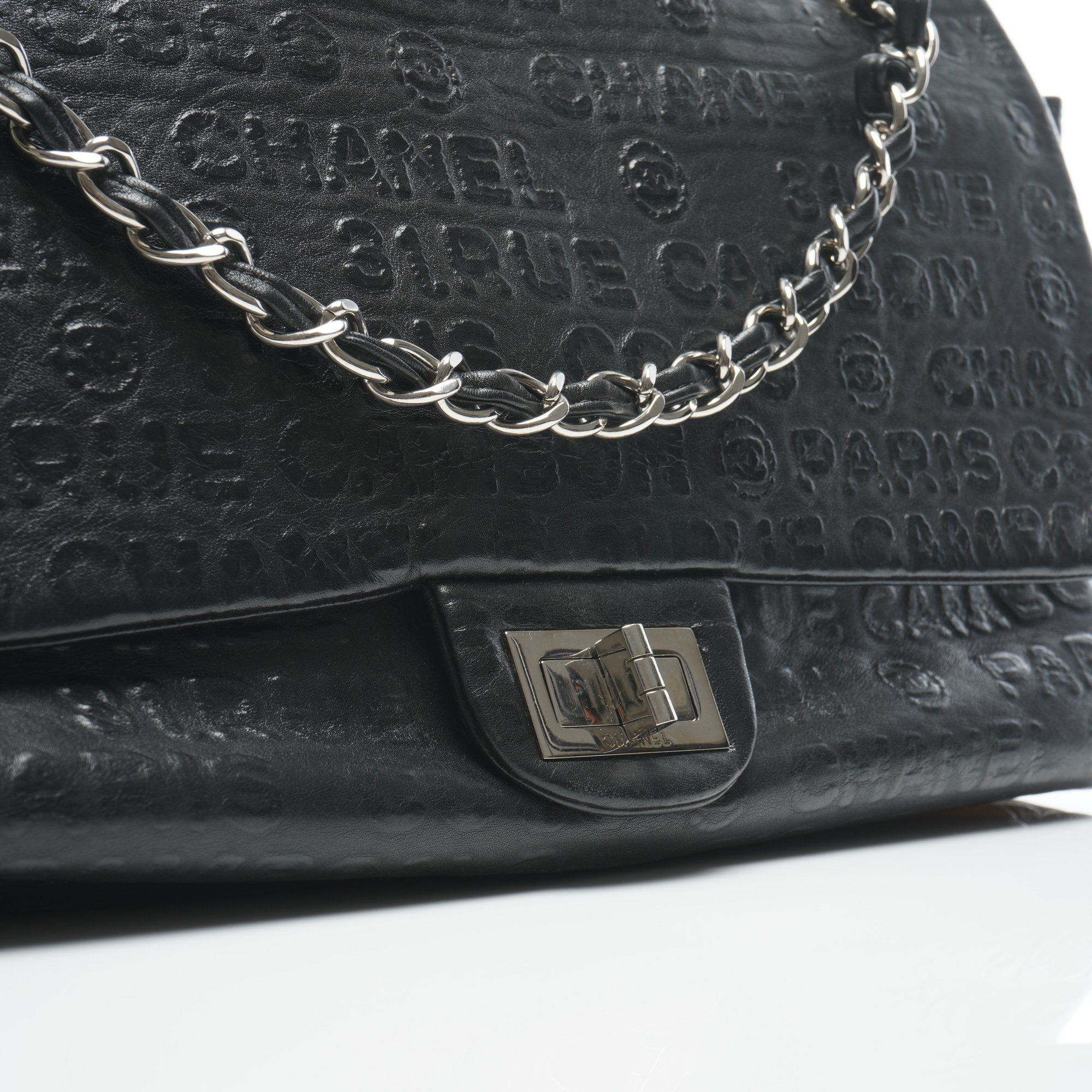 Chanel Black Leather Rue Cambon Double Flap Shoulder bag