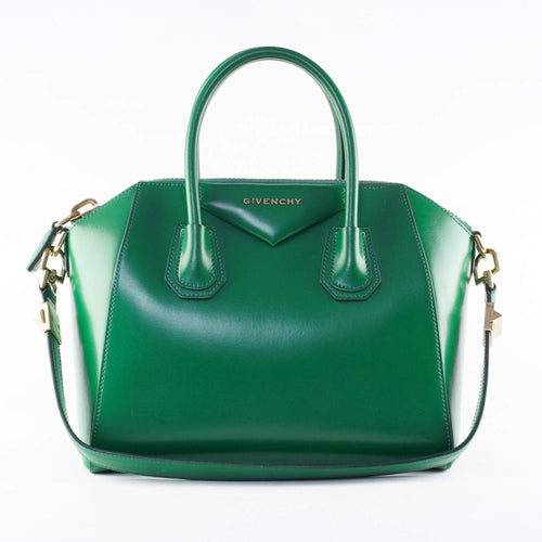 Givenchy Green Leather Small Antigona Satchel