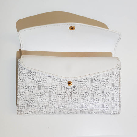 Goyard White Canvas Wallet