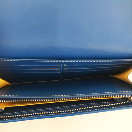 Goyard Long Blue Wallet