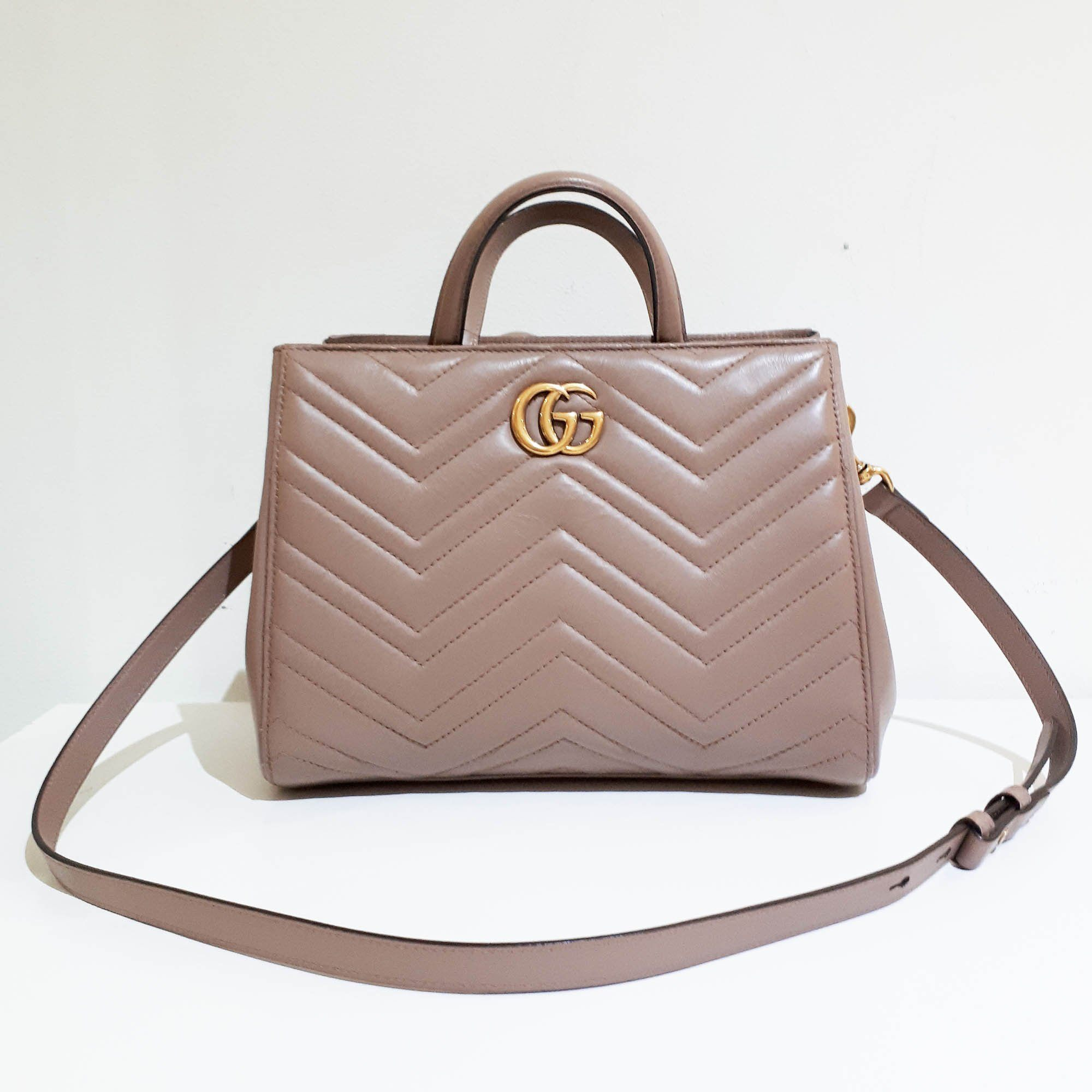 Gucci GG Marmont matelassé top handle bag