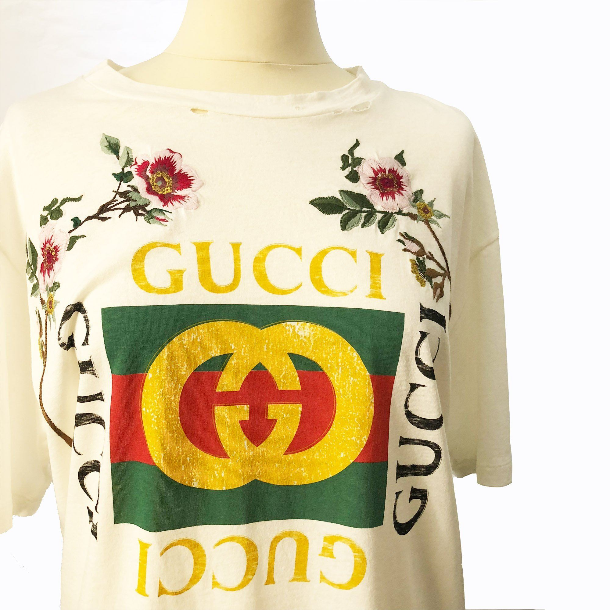 Gucci Print Cotton T-Shirt