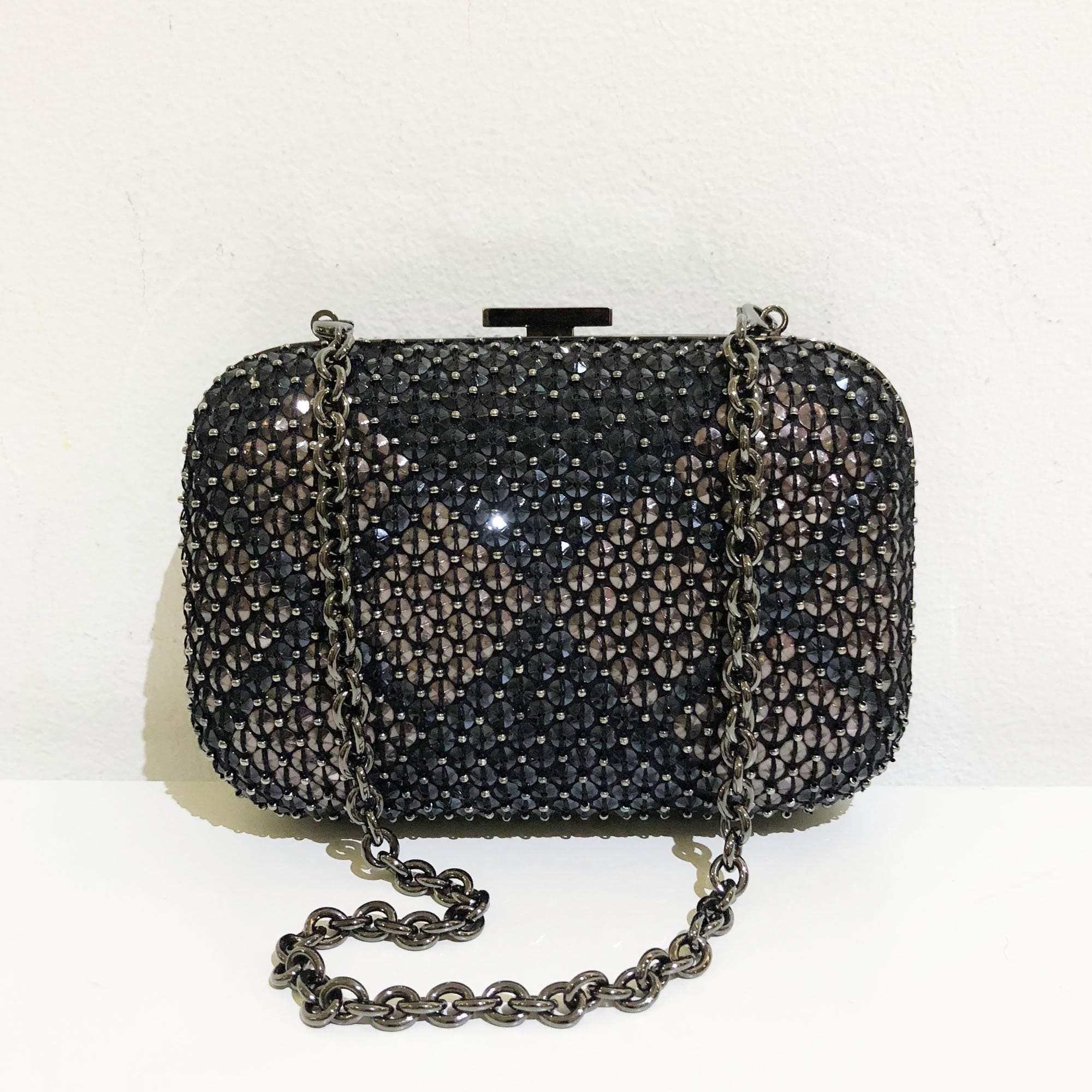 Gucci Studded Clutch Purse with Chain