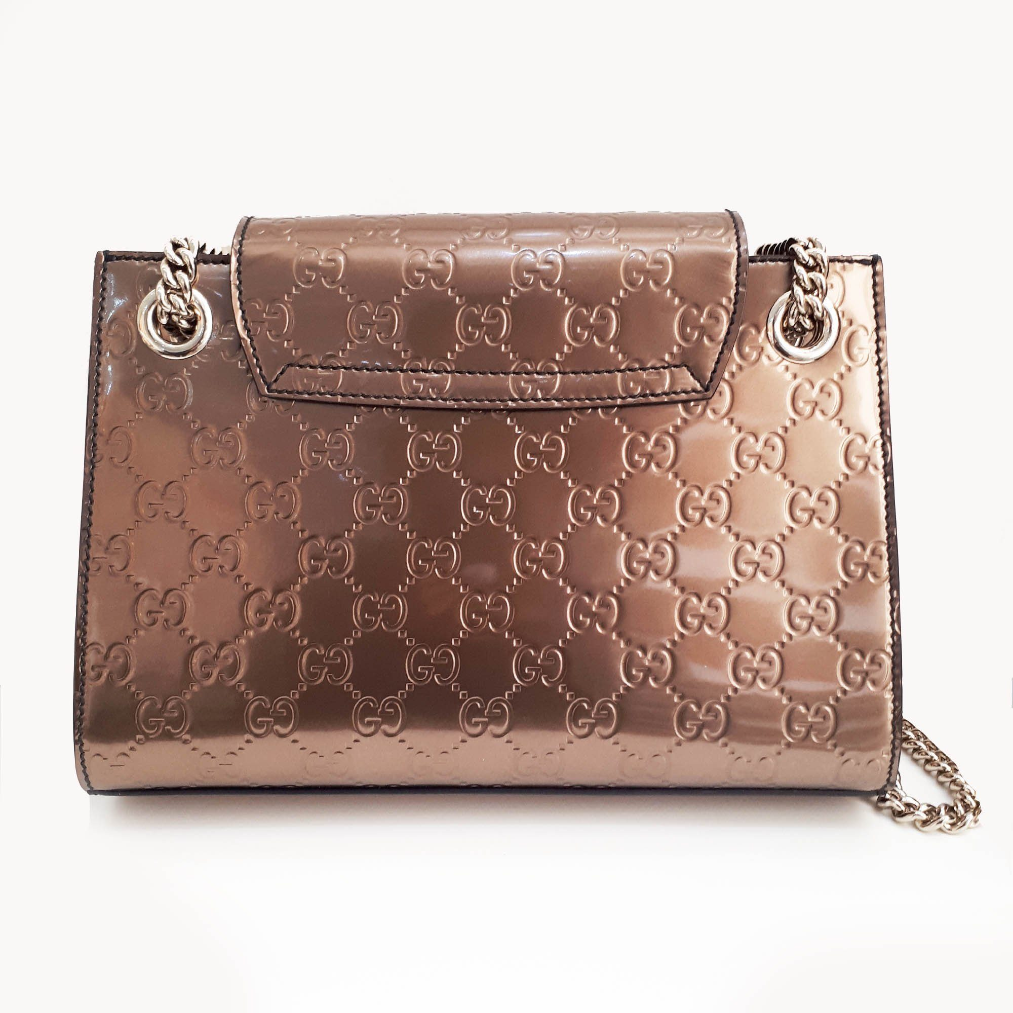 Gucci Emily Small Guccissima Leather Chain Shoulder Bag