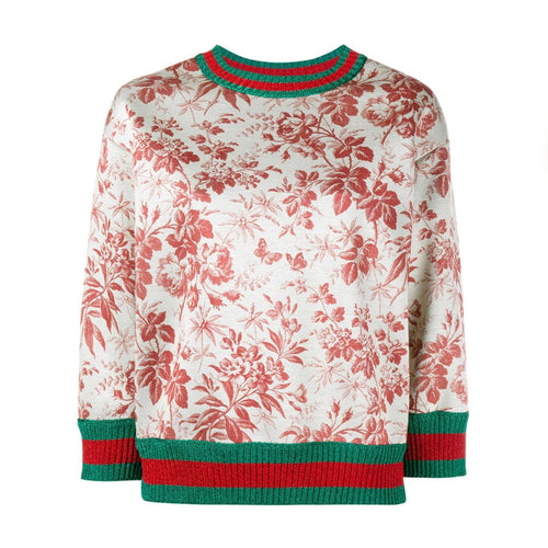 Gucci Sweater With Floral Print