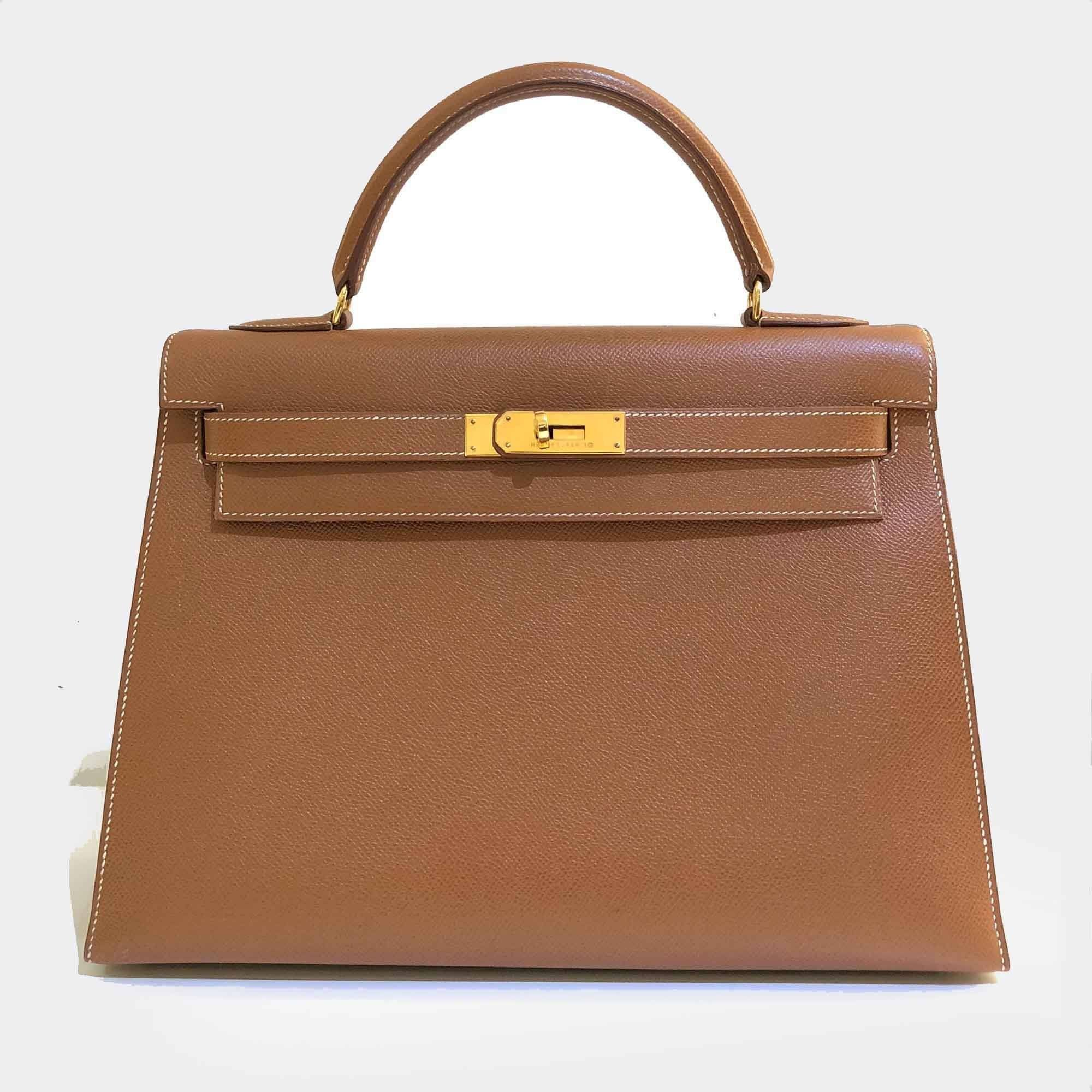 7f7cf1d110 ... bag 1a5eb d84a6 new style hermes vintage kelly epsom 32 in gold  garderobe b9068 e0fd3 ...