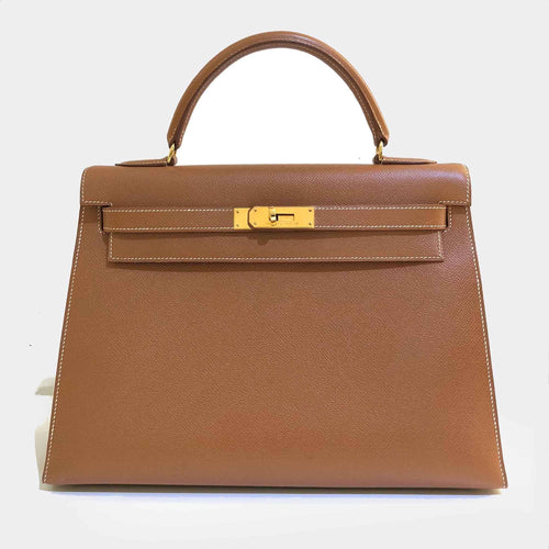Hermes Vintage Kelly Epsom 32 in Gold