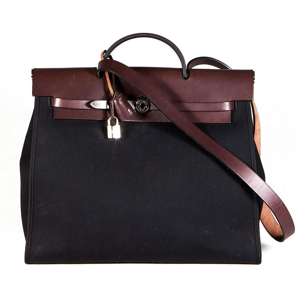 Hermes Toile Canvas /Leather Herbag