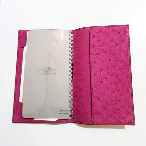 Hermes Agenda Notebook Cover Ostrich