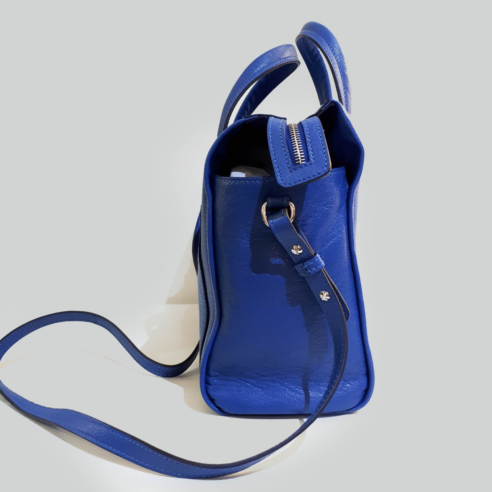 Hogan Blue Top Handle Bag
