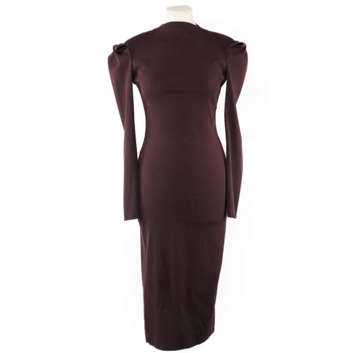 Lanvin Long Sleeve Wool Dress