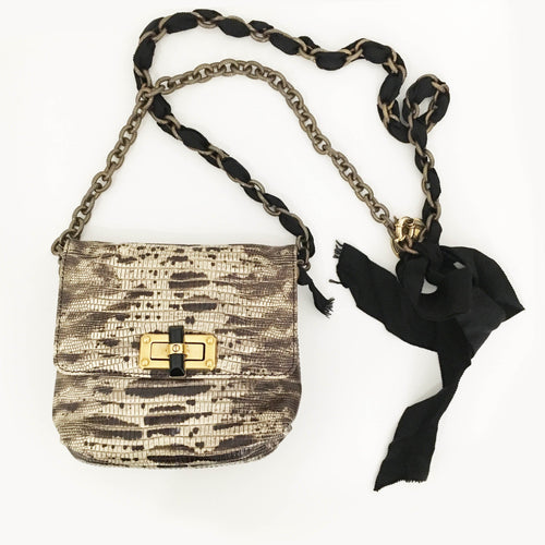 Lanvin Lizard Happy Mini Pop Bag