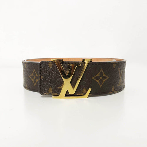 Louis Vuitton Monogram LV Buckle Leather Belt