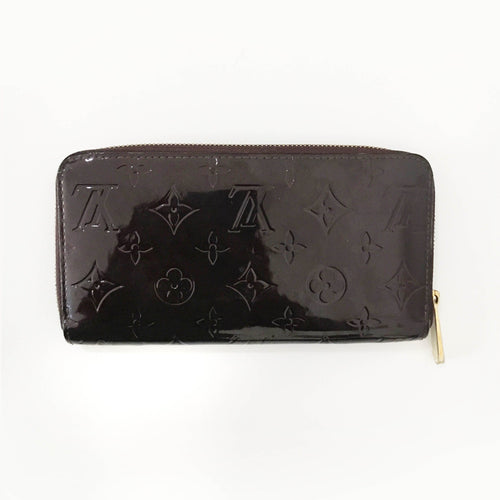Louis Vuitton Burgundy Vernis Zippy Continental Wallet