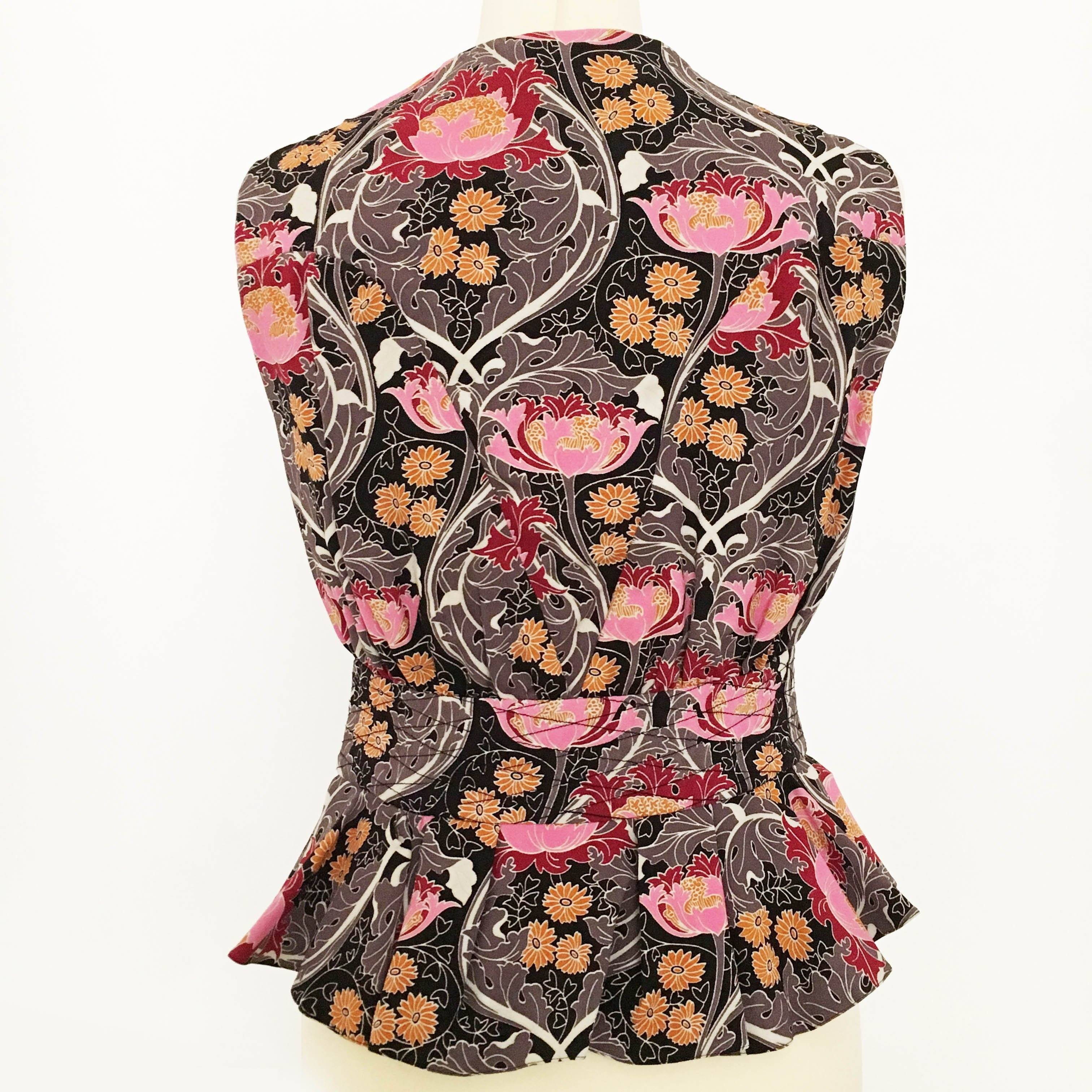 Louis Vuitton Printed Peplum Top